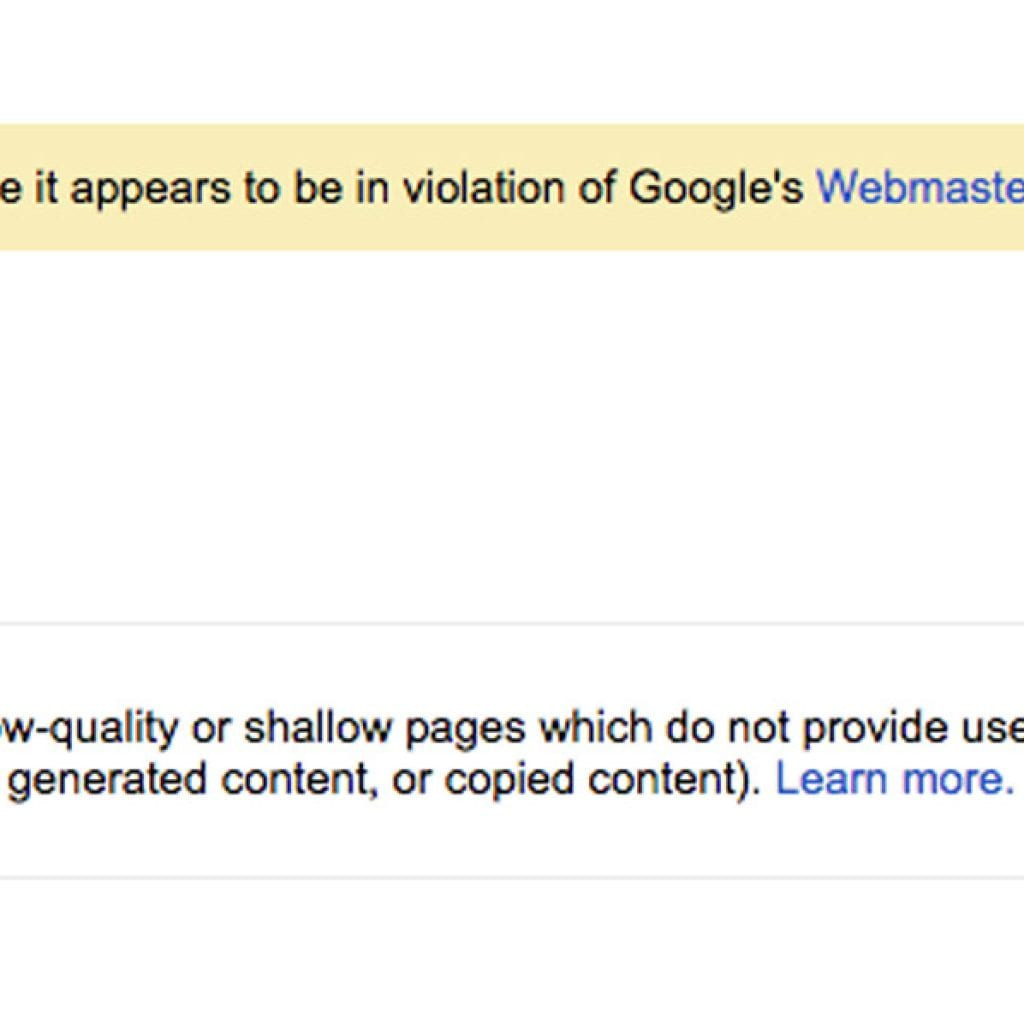 Beware of a Google Penalty: What to Do When Mass Manual Actions are on the Rise