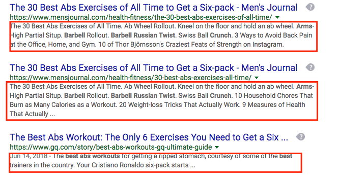 meta description call to action in search engine results